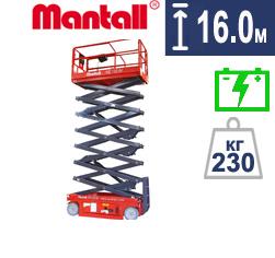 Аренда ножничного подъемника Mantall 16м