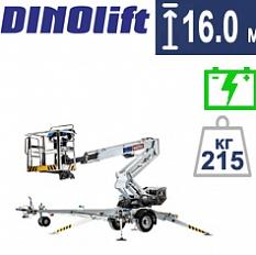 Купить прицепной коленчатый подъемник DINO 160XTB II